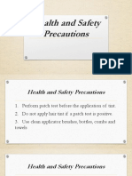 3rd 10 Health and Safety Precautions