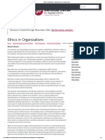 Ethics in Organizations - Markkula Center for Applied Ethics