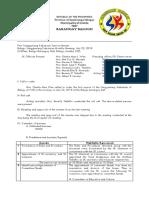 Sangguniang Kabataan Minutes Sample