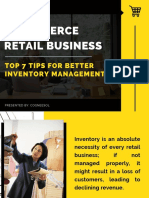 E-commerce Retail Business - Top 7 Tips for Better Inventory Management