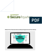 Webroot Safe Security & Antivirus Software All Your Devices