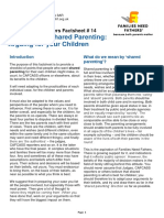 Fnf Factsheet 14 the Case for Shared Parenting