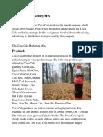 Coca Cola Marketing Mix Immy
