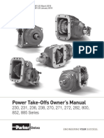Chelsea PTO 852 Operation and Maintenance manual