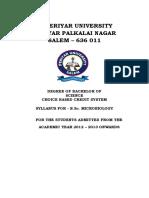 Bsc microbiology syllabus Periyar University