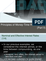 Principles of Money-Time Relationships