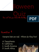 Halloween history and quiz