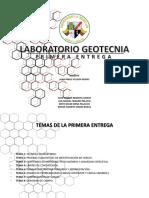 Laboratorio Geotecnia- Primera Entrega (Presentacion)