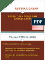 Part 2-Resep, Copy Resep, Bahasa Latin