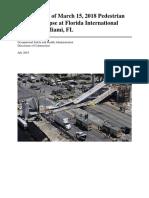 Investigation Report of Pedestrian Bridge Collapase at Miami