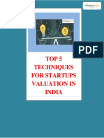 4.Top 5 Techniques for Startups Valuation in India