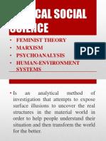 Critical Social Science