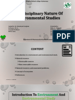 Multidisciplinary Nature of Environmental Studies [RICHA]