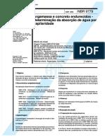 Dlscrib.com Nbr 9779 Argamassa e Concreto Endurecidos Determinacao Da Absorcao de Agua Por Capilaridade