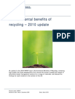 Environmental effect of recycling 2010