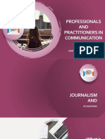 Professionals and Practitioners in Communication(1)