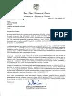 Carta CNE - Cartagena