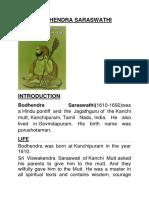 Bodhendra Saraswathi