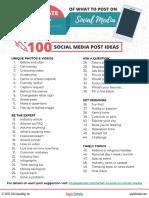 Social Media IDeas