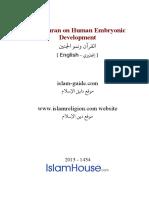 En the Quran on Human Embryonic Development