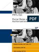 Portal Roles and Authorizations