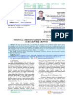 Financial Crisis in Pakistan and Its Impact on Agricultural Growth a Review