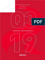 Rovio Financial Reports Q3 2019
