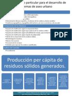 Procedimiento particular para el desarrollo de sistemas de aseo urbano
