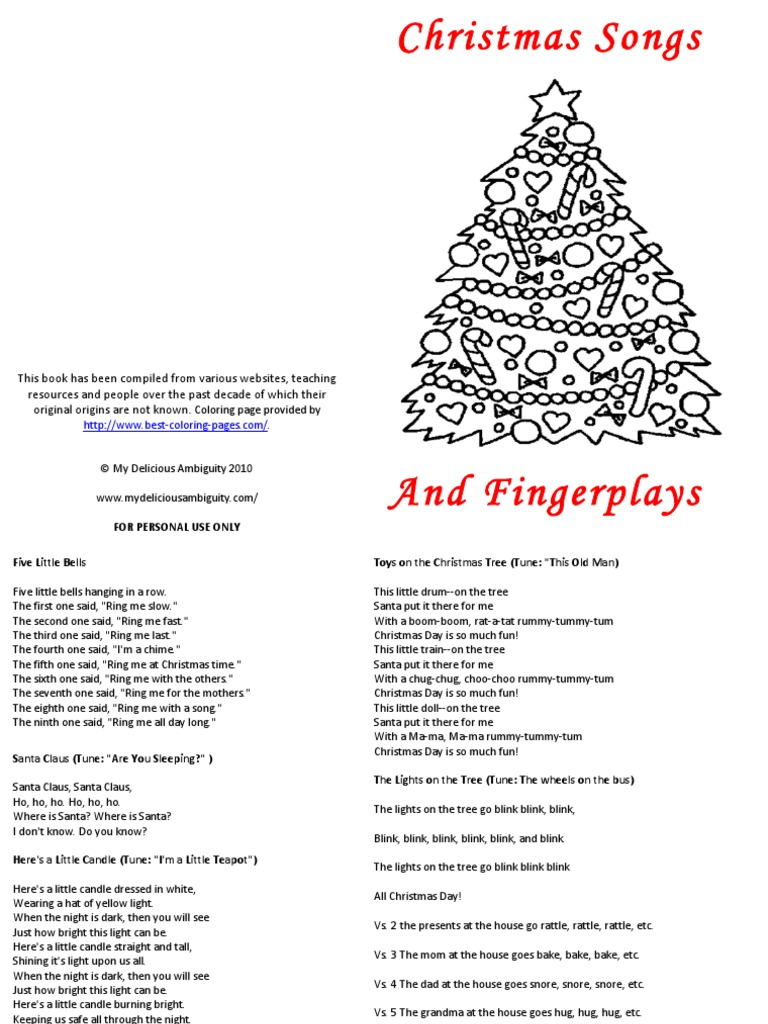 christmas songs and finger plays - All Christmas Songs