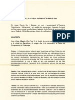 ERC denuncia acte Felip VI