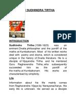 Sri Sudheendra Teeertha