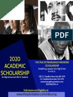 MLK Extravaganza Weekend Scholarship 2020