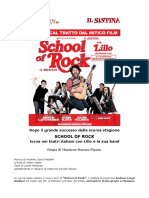 Comunicato Stampa SCHOOL of ROCK