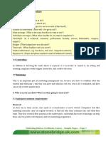 Marketing Brief for Brochure