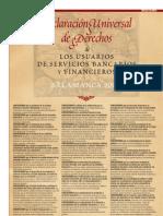 Declaracion Universal de Derechos de los Usuarios de Servicios Bancarios y Financieros
