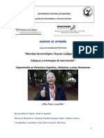 cuadernillo de Alzheimer