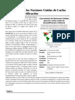 Convención de Las Naciones Unidas de Lucha Contra La Desertificación