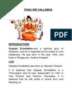 Sripada Sri Vallabha