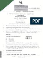 CSEC Technical Drawing June 2014 P1