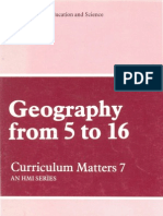 Geography From 5 - 16