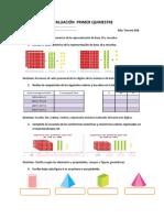 Evaluaciónes Matemática 1er Quimestre