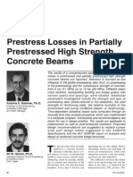 Prestress Losses in Partially Prestressed High Strength Concrete Beams.pdf