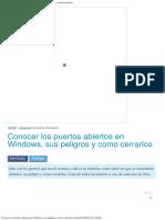 Conocer Los Puertos Abiertos en Windows, Sus Peligros y Como Cerrarlos