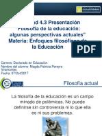 Activiad 4.3 Presentacion Filosofía Actual