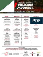 Programación IV Semana Colomboa Japonesa
