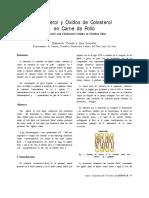 Colesterol y Óxidos de Colesterol Pollo