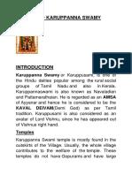 Lord Karuppanna Swamy