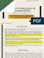 INTENSIFICACIÓN DEL PROCESO DE OXIDACIÓN AVANZADA (O2H2O2) UTILIZANDO UN REACTOR TUBULAR CONTINUO LLENO DE MEZCLADORES ESTATICOS.