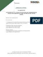 Actividades de la Gobernadora Claudia Pavlovich del 23 de octubre del 2019