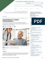 Envejecimiento y Cambios Endocrinológicos